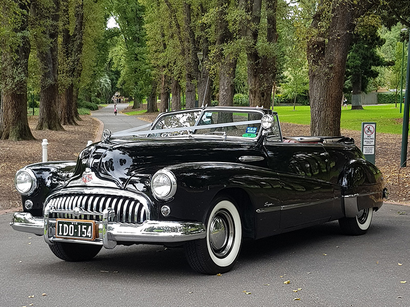 Black Buick Wedding Cars - 1948 Black Buick Convertible Car - Wedding Cars