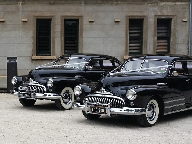 Black Buick Wedding Cars - 1948 Black Buick Sedan Car - Wedding Cars